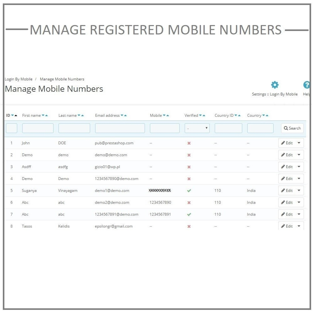 module - Mobile Endgeräte - Login by mobile phone number. Register by OTP SMS. - 9
