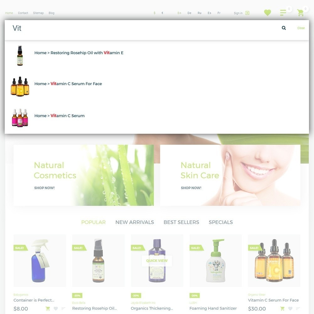 theme - Santé & Beauté - Organic cosmetics - 6
