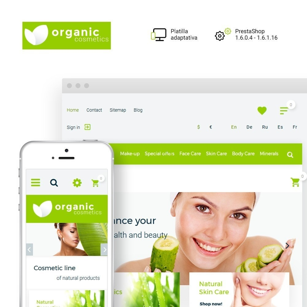 theme - Salud y Belleza - Organic cosmetics - 1