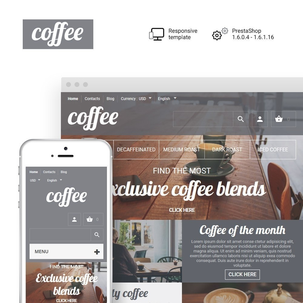 theme - Lebensmittel & Restaurants - Coffee - Coffee Shop Template - 1