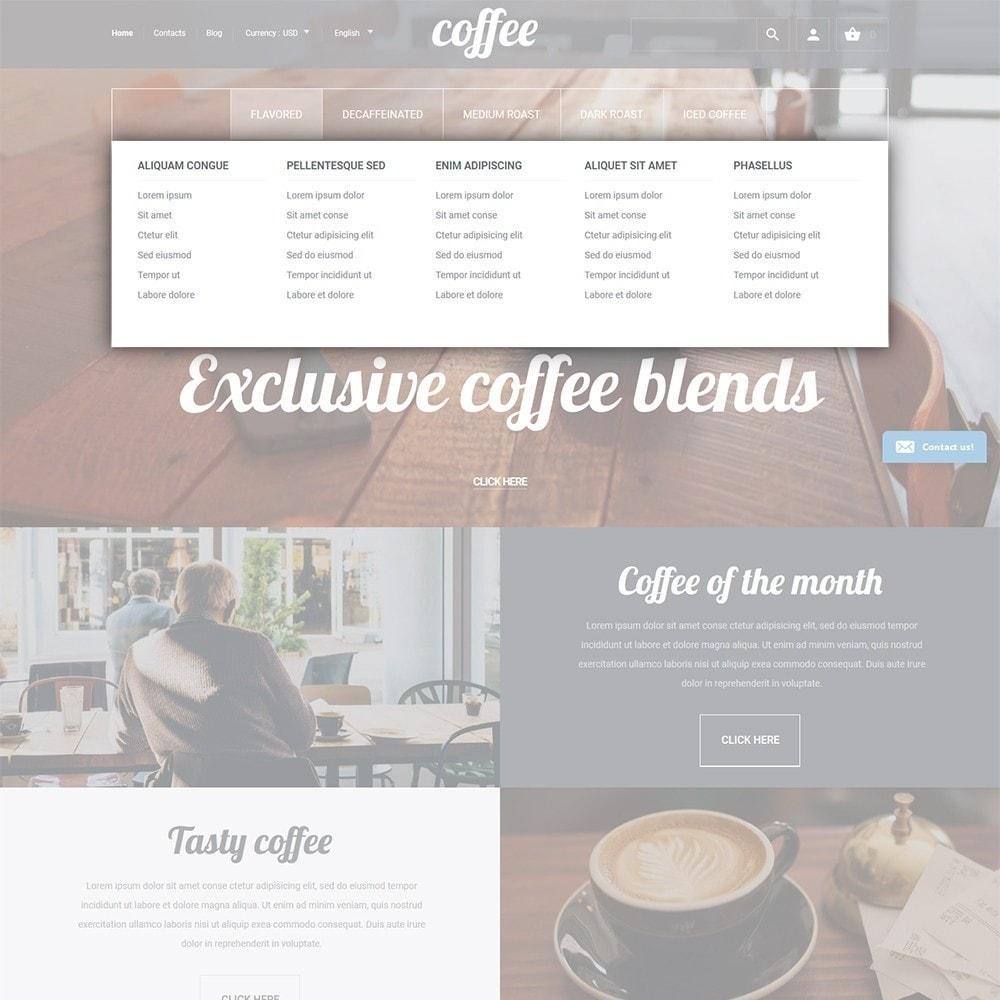 theme - Gastronomía y Restauración - Coffee - para Sitio de Tienda de Café - 4