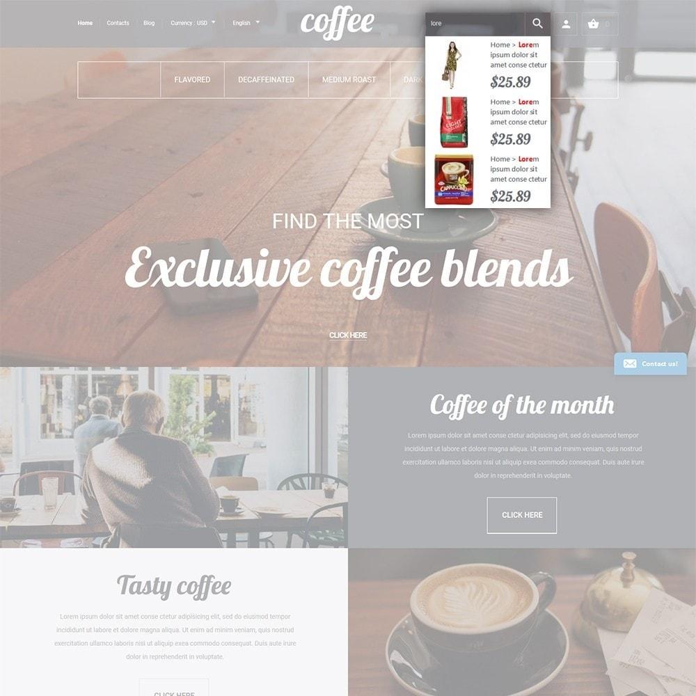 theme - Gastronomía y Restauración - Coffee - para Sitio de Tienda de Café - 6