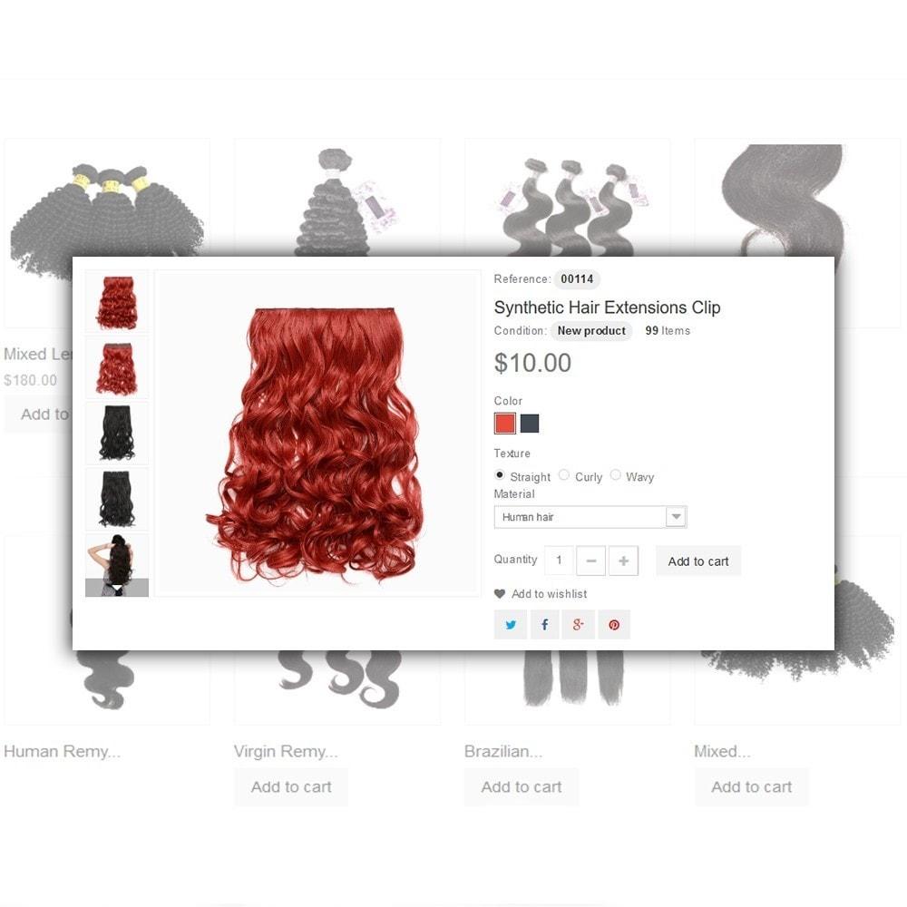 theme - Здоровье и красота - Hair Care - шаблон на тему парикмахерская - 5