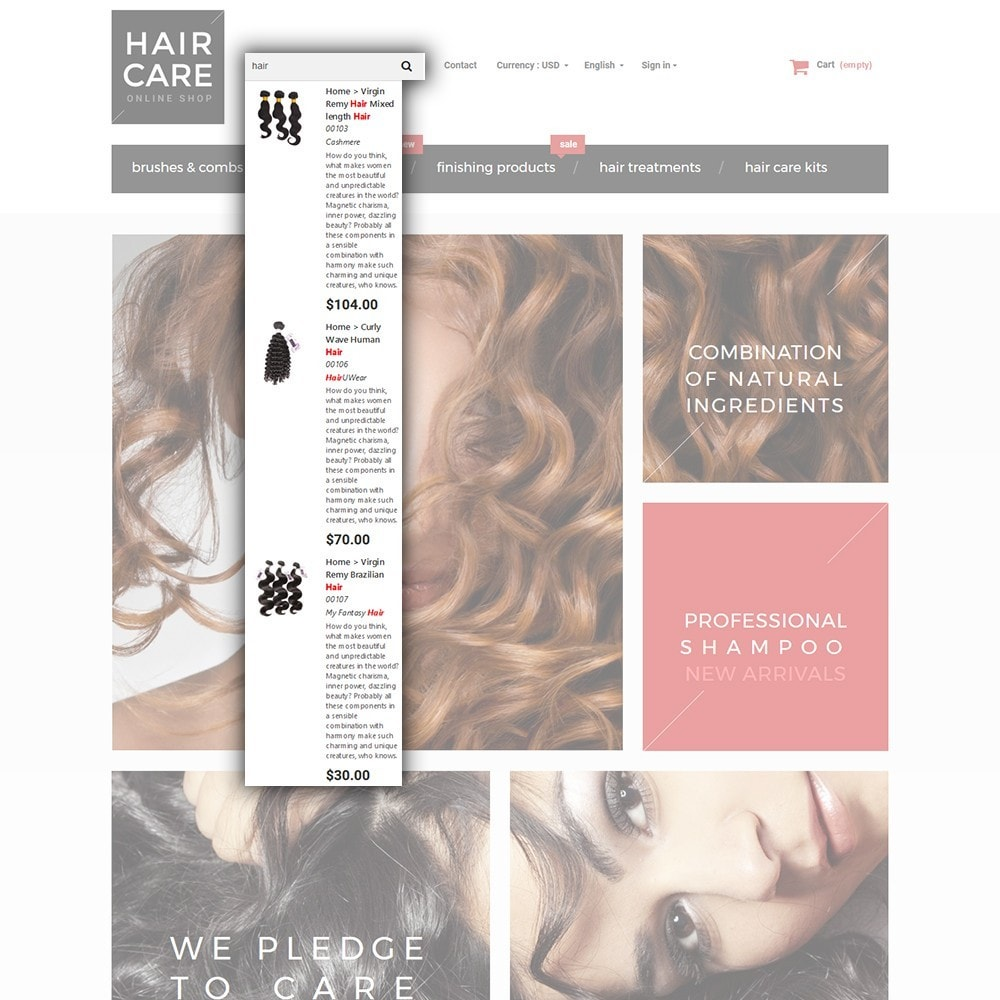 theme - Здоровье и красота - Hair Care - шаблон на тему парикмахерская - 7