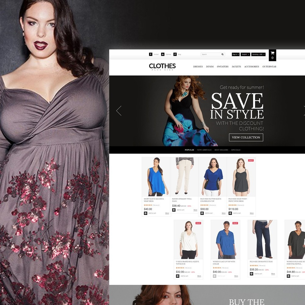 theme - Fashion & Shoes - Clothes Plus Size - Apparel Template - 1
