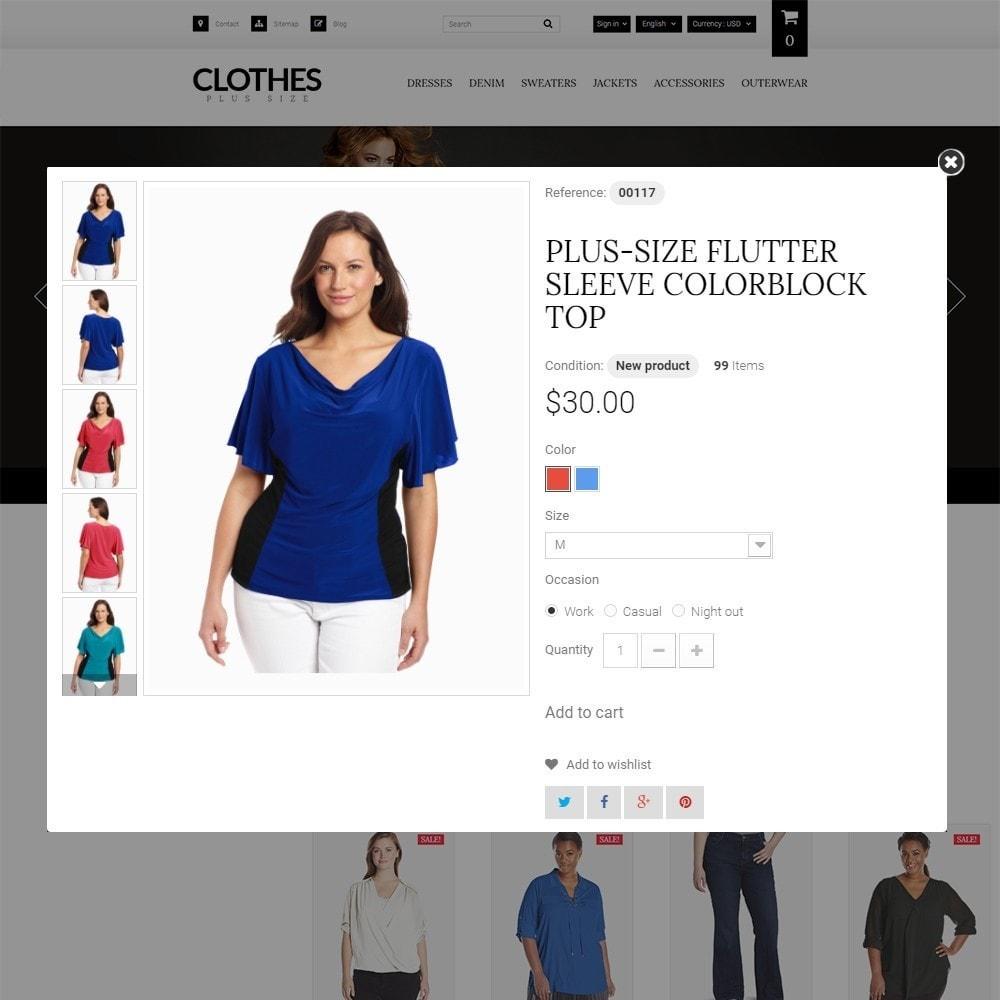 theme - Moda y Calzado - Clothes Plus Size - para Sitio de Ropa - 3