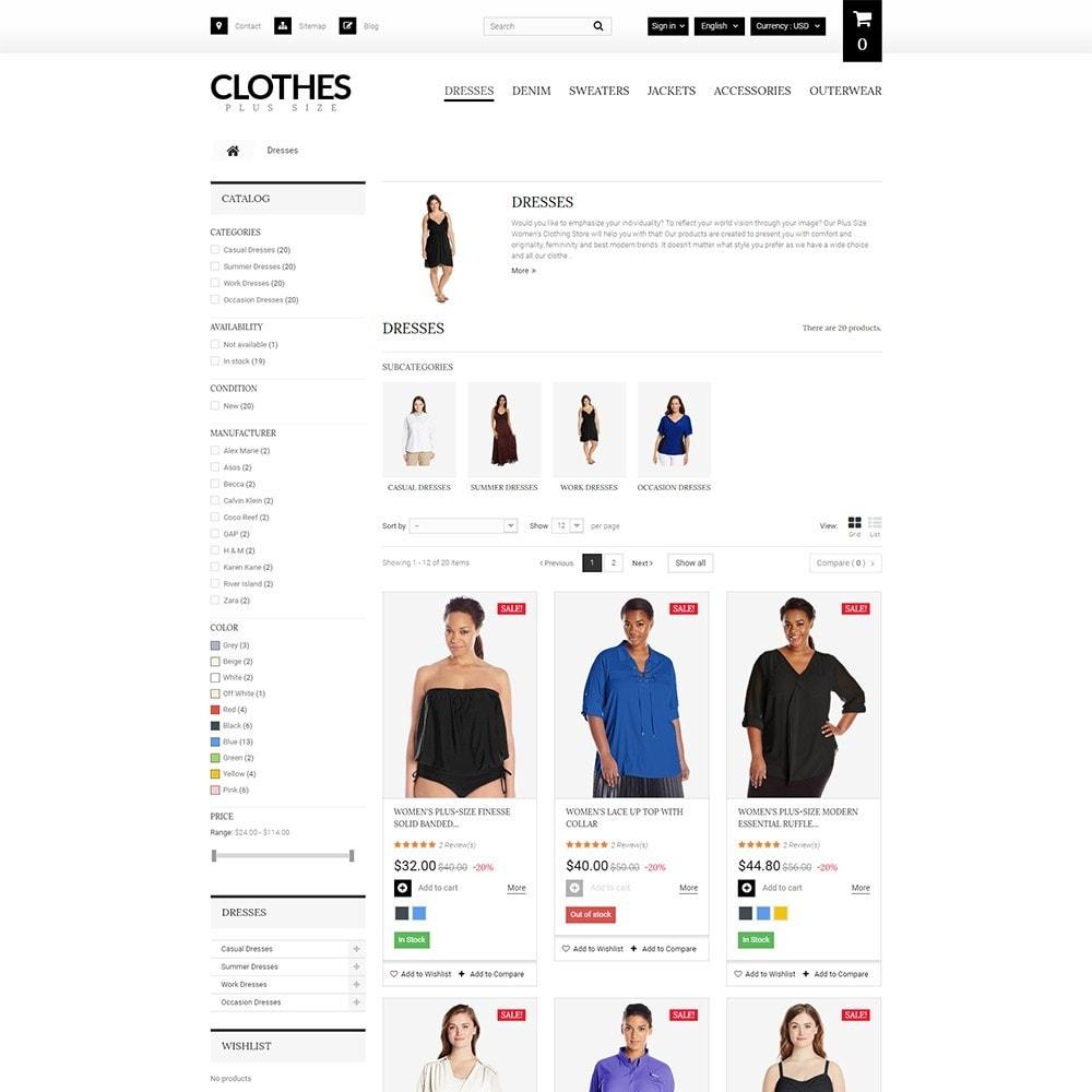 theme - Moda y Calzado - Clothes Plus Size - para Sitio de Ropa - 5