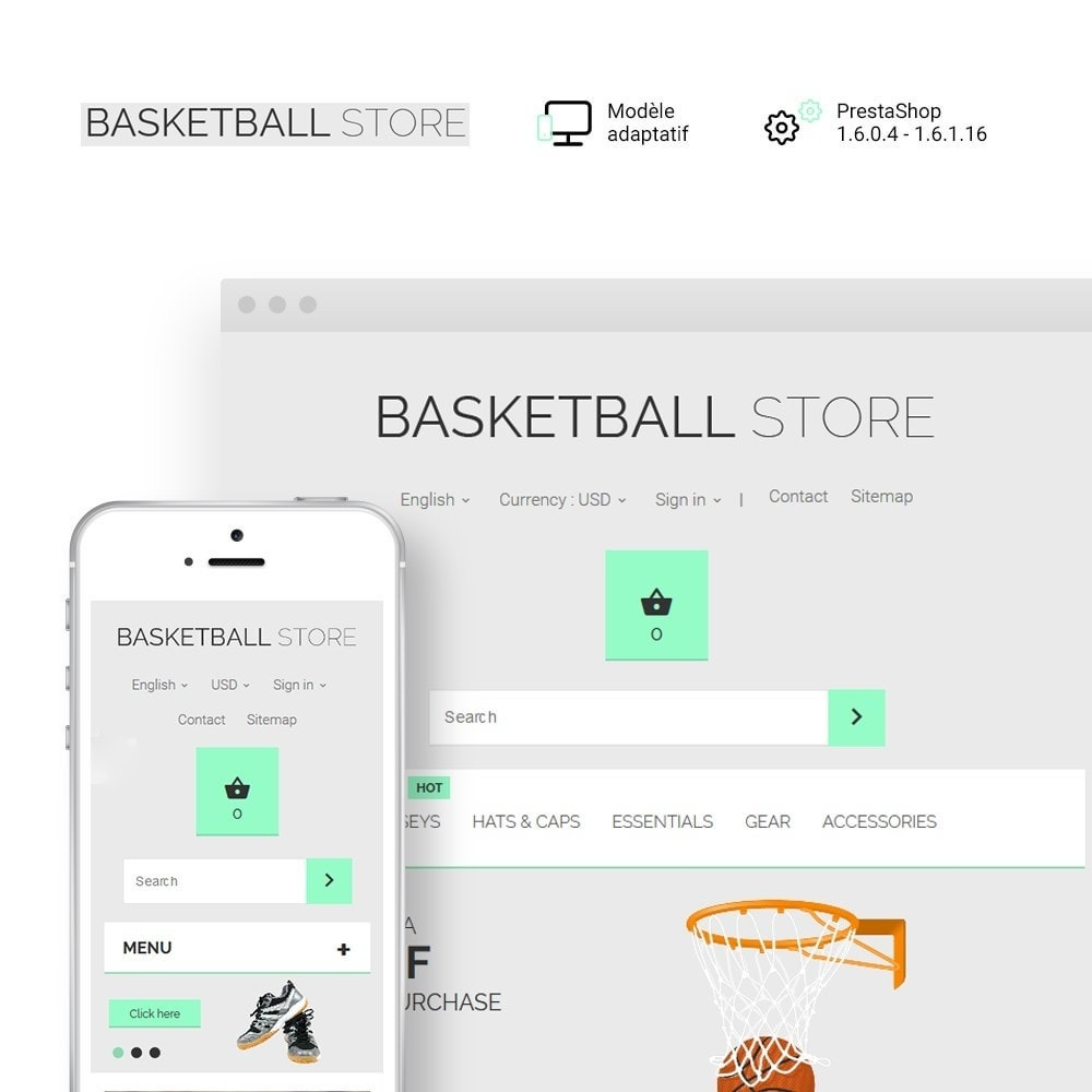 theme - Sport, Loisirs & Voyage - Basketball Store - 1