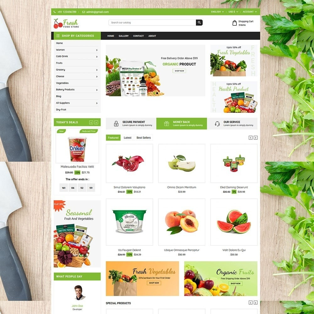 theme - Alimentos & Restaurantes - Fruit Store - 2