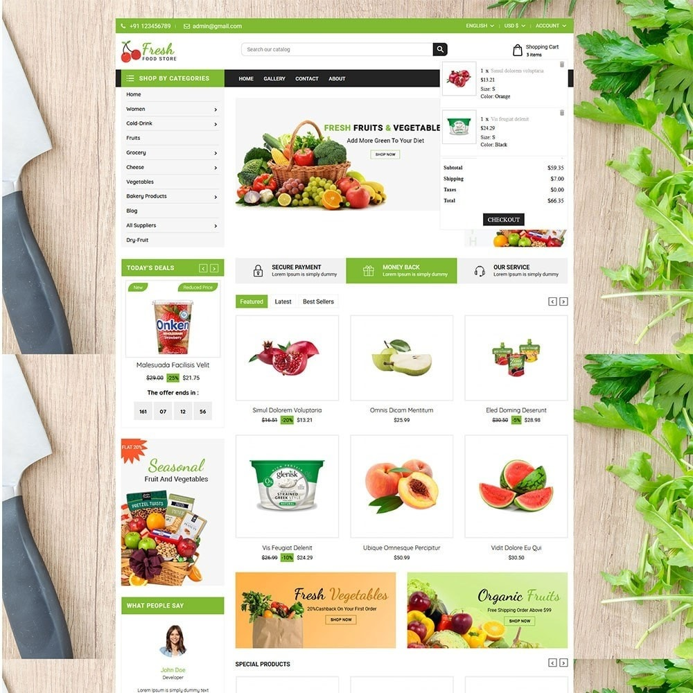 theme - Alimentos & Restaurantes - Fruit Store - 3