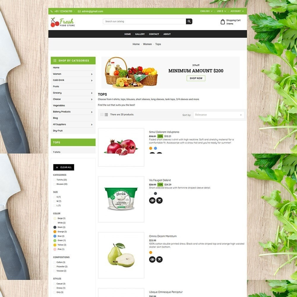 theme - Alimentation & Restauration - Fruit Store - 4