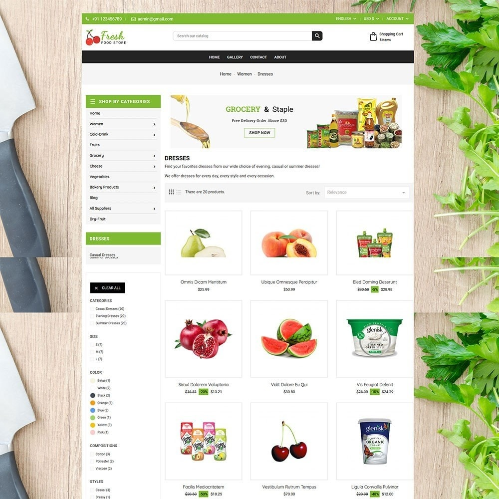 theme - Alimentos & Restaurantes - Fruit Store - 5