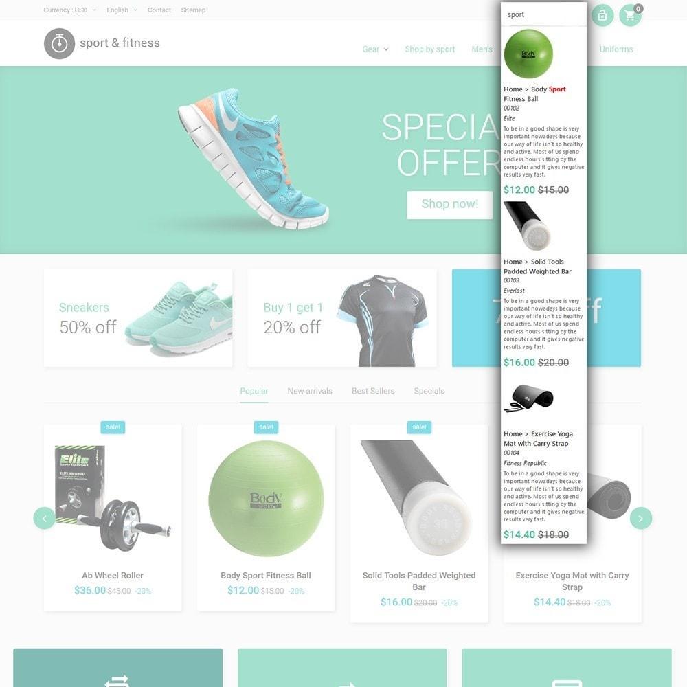 theme - Deportes, Actividades y Viajes - Sport&Fitness - para Sitio de Fitness - 6