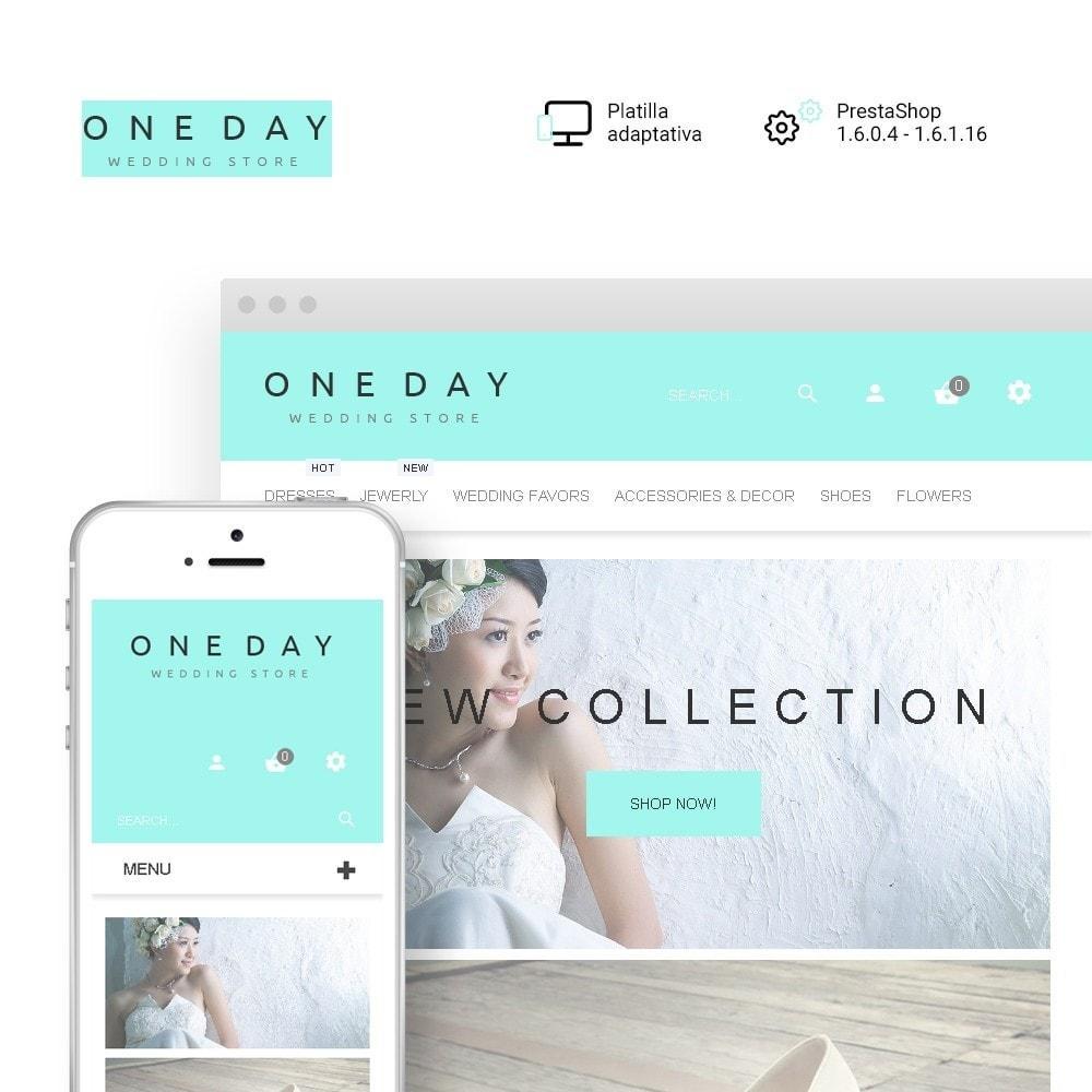 theme - Moda y Calzado - One Day - para Sitio de Tienda de Artículos para Boda - 1