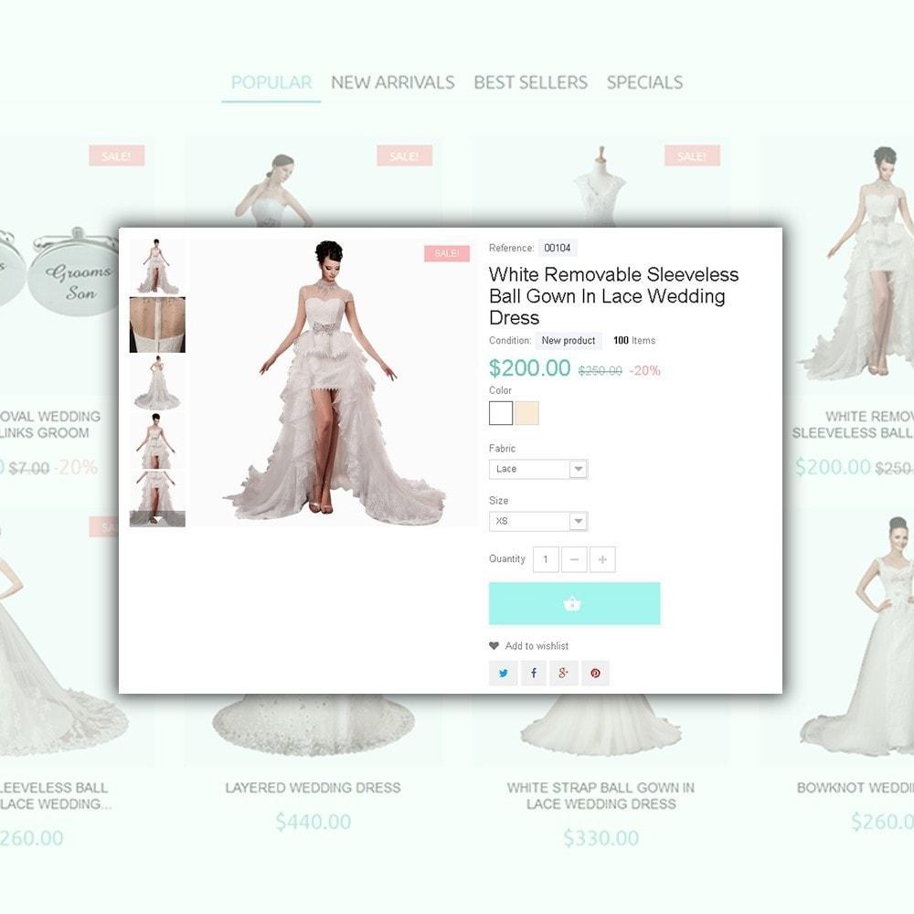 theme - Moda y Calzado - One Day - para Sitio de Tienda de Artículos para Boda - 4
