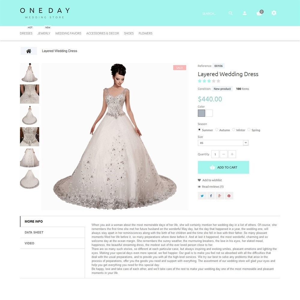 theme - Мода и обувь - One Day - шаблон на тему свадебный магазин - 3