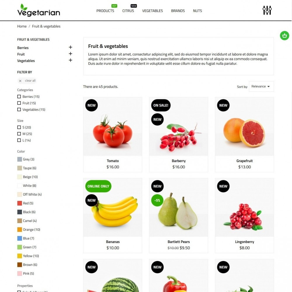 theme - Eten & Restaurant - Vegetarian - 5