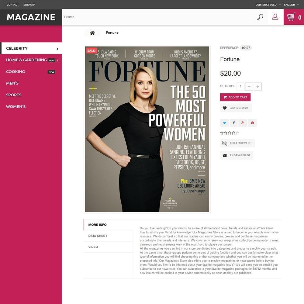 theme - Hogar y Jardín - Magazine - para Sitio de Revistas - 3