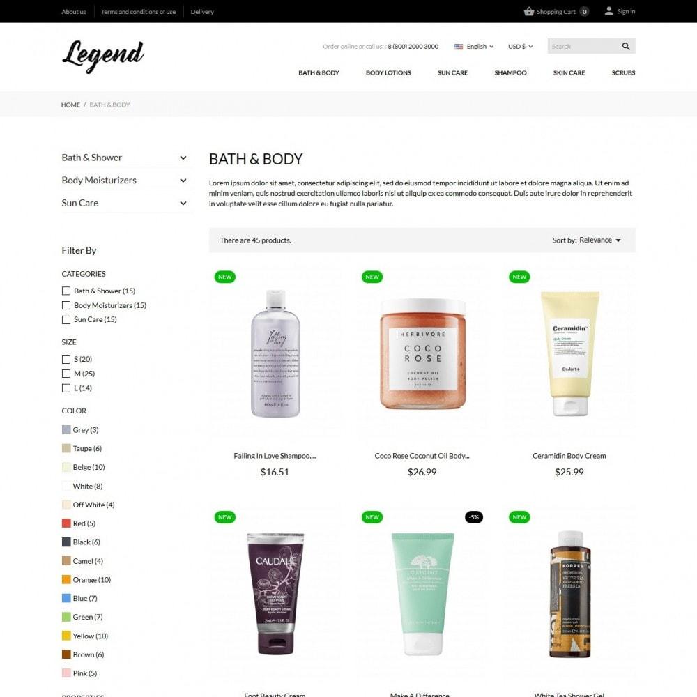 theme - Santé & Beauté - Legend Cosmetics - 5