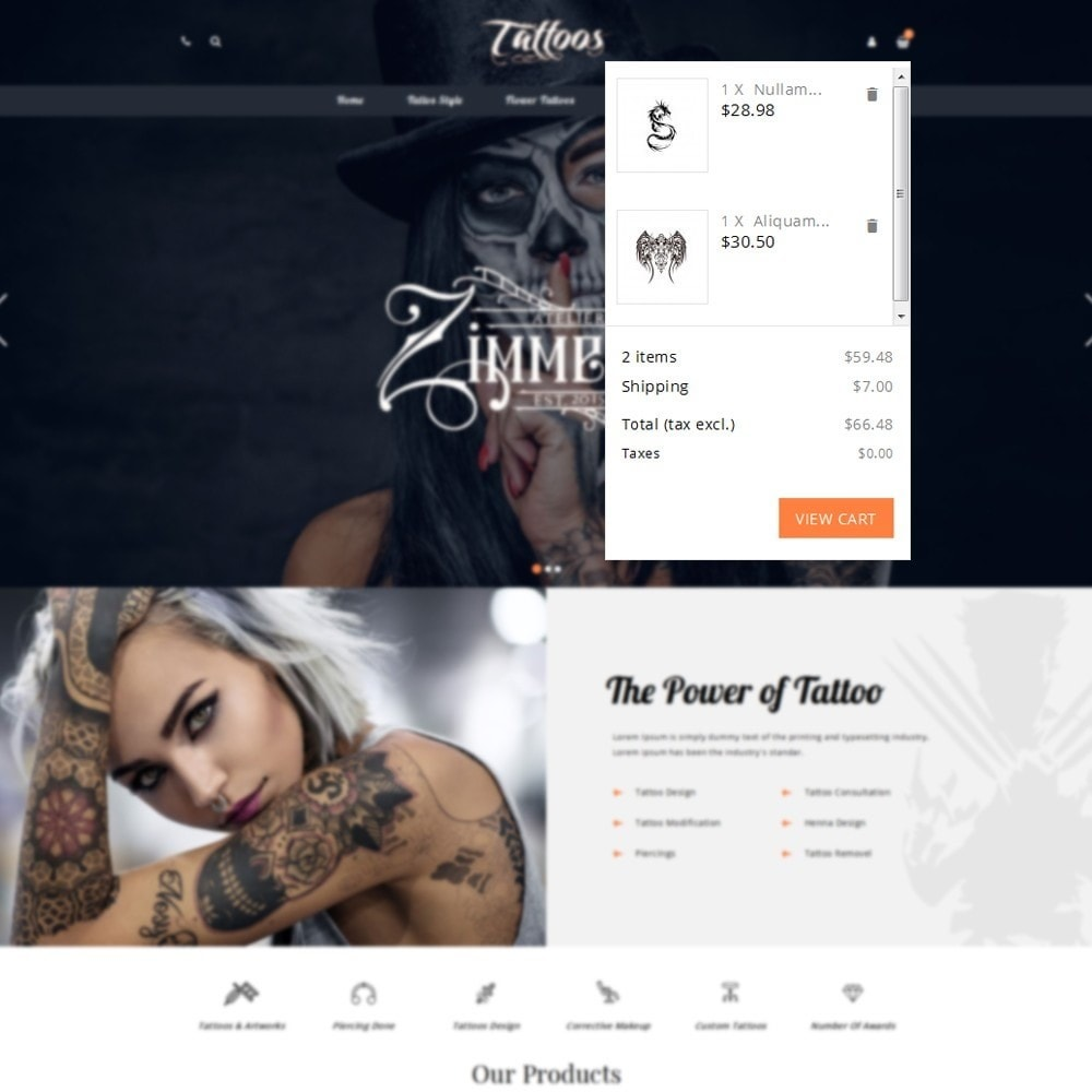 theme - Mode & Schoenen - Tattoos Shop - 7
