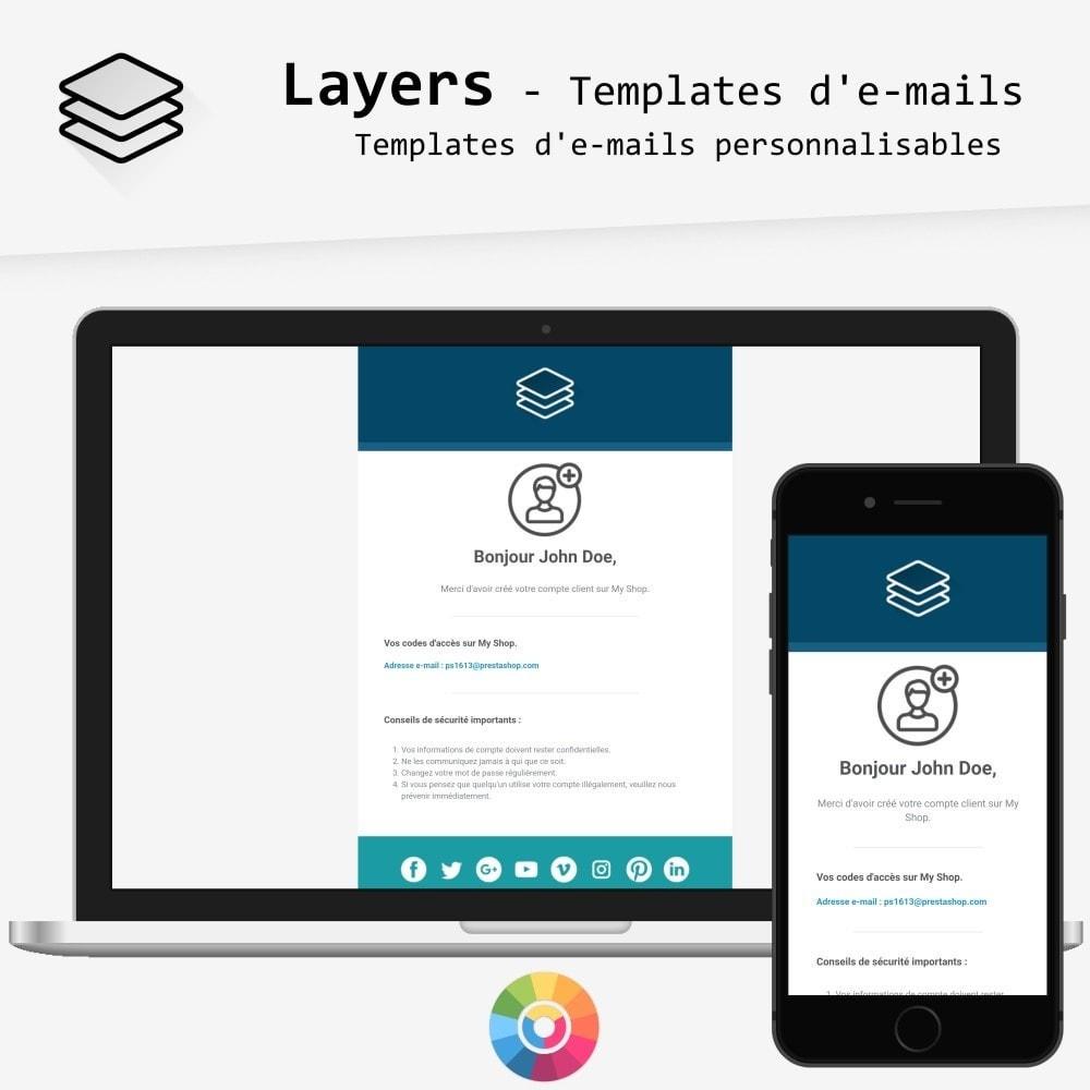 email - Templates d'e-mails PrestaShop - Layers - templates d'e-mails - 1