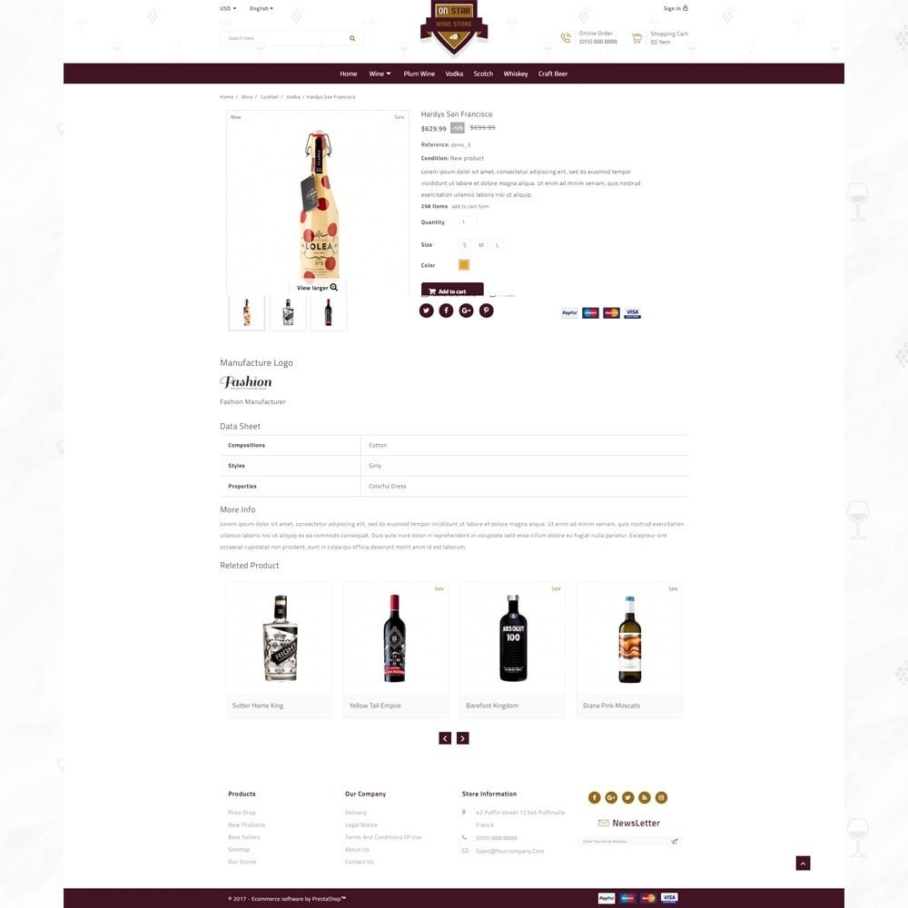 theme - Bebidas & Tabaco - On Star - Wine Store - 4