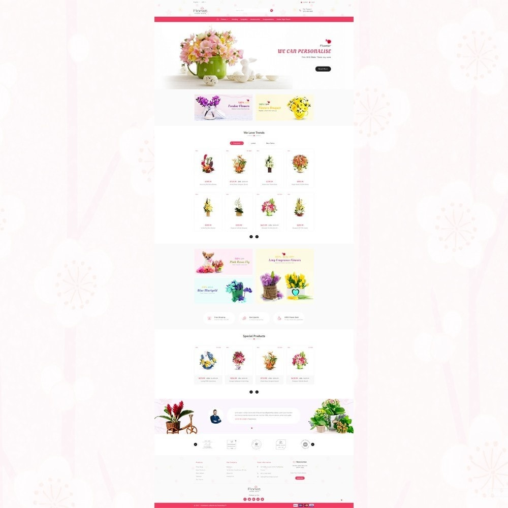 theme - Presentes, Flores & Comemorações - Florist - Boutique Flower Store - 2