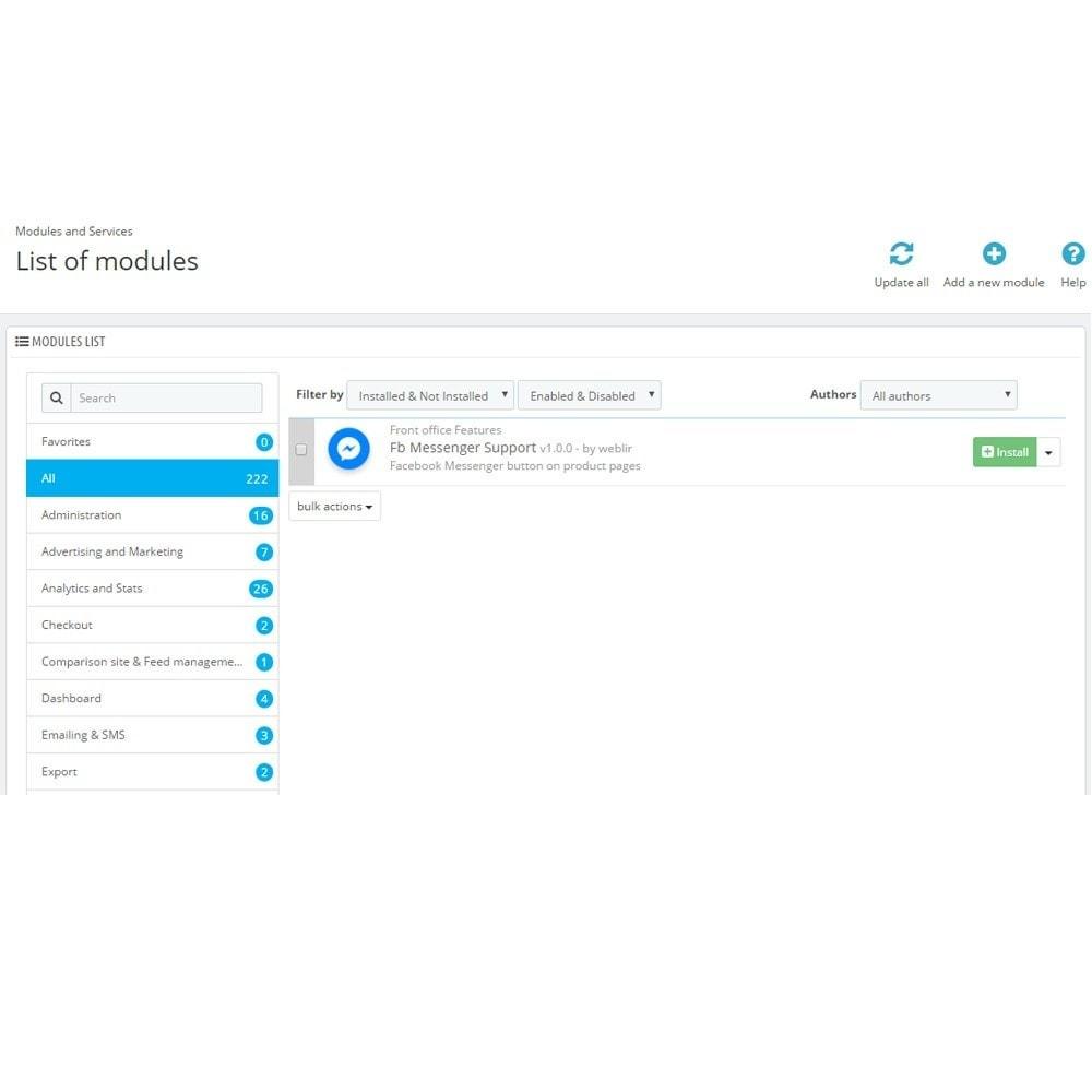 module - Ondersteuning & Online chat - Messenger en chat Bot - 2