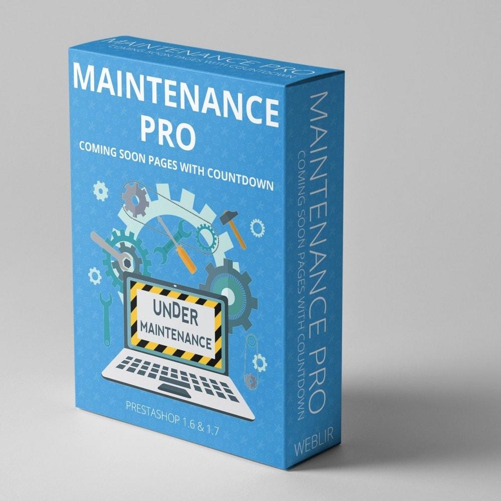 module - Personalizacja strony - Maintenance Pro - Wkrótce strony z odliczaniem - 1