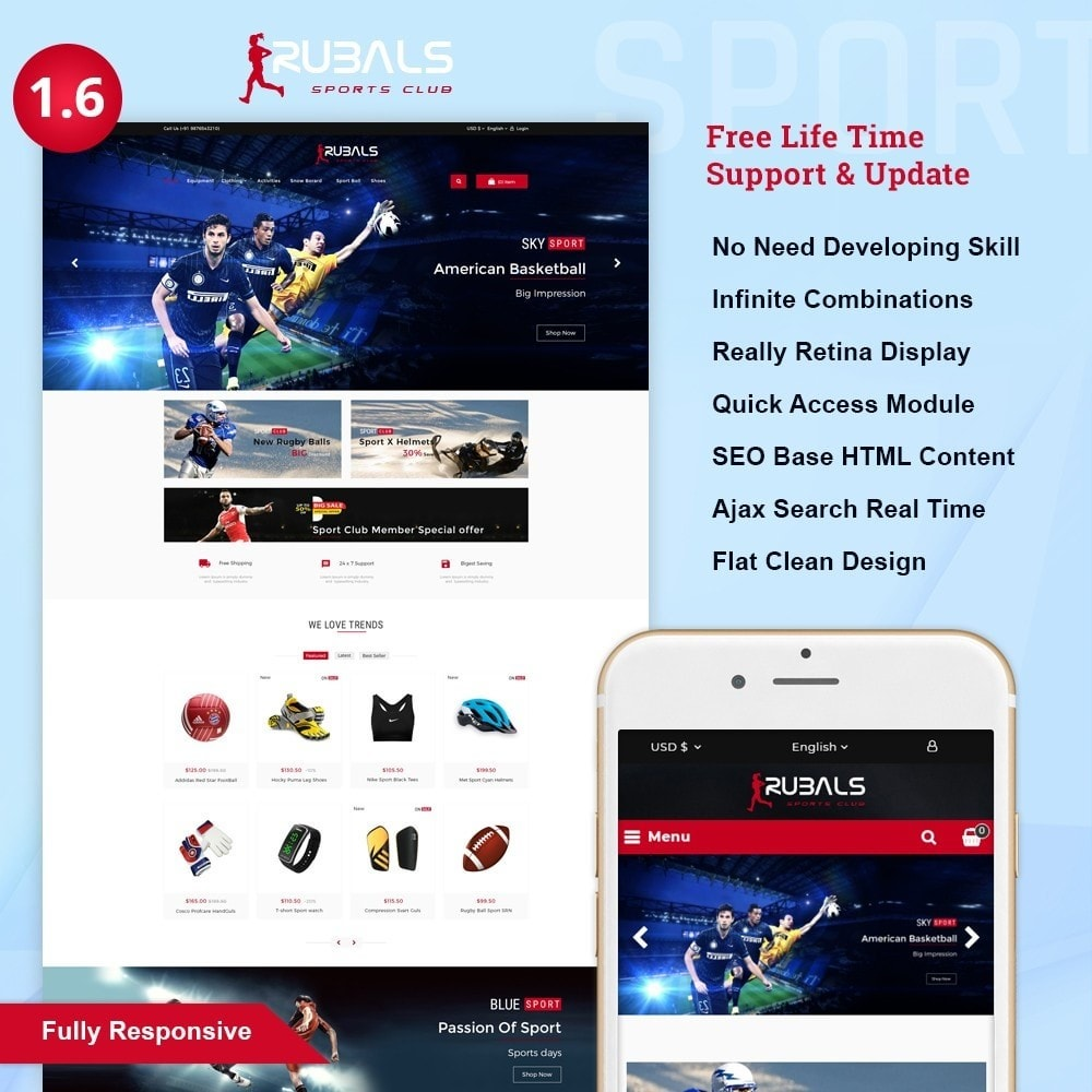 theme - Sports, Activities & Travel - Rubals - Sports Club Store - 1