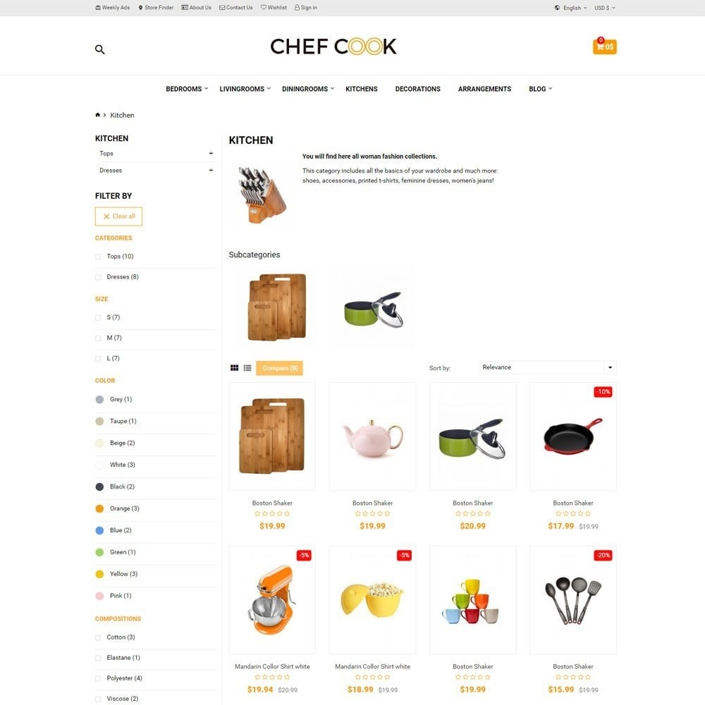 theme - Дом и сад - Housewares and Kitchen Store - ChefCook - 5