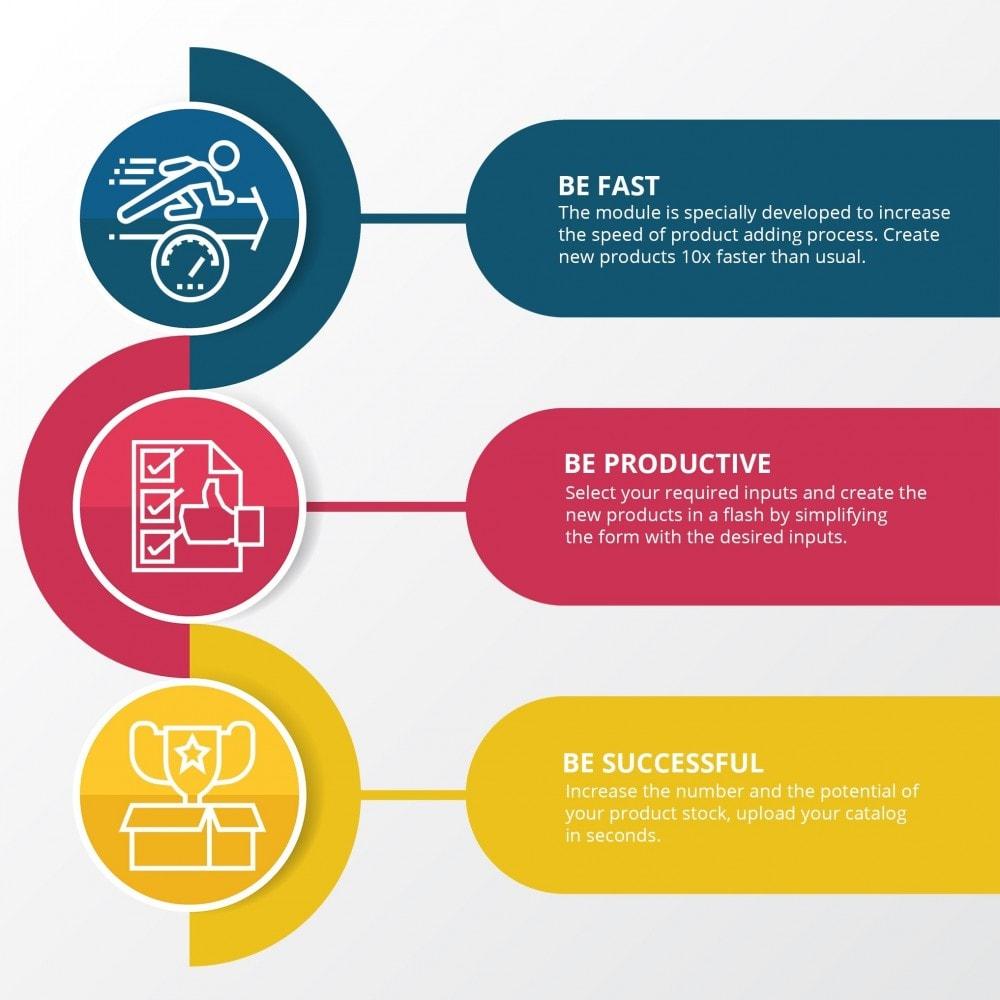 module - Snelle & seriematige bewerking - Snel producten toevoegen - maak producten sneller - 3