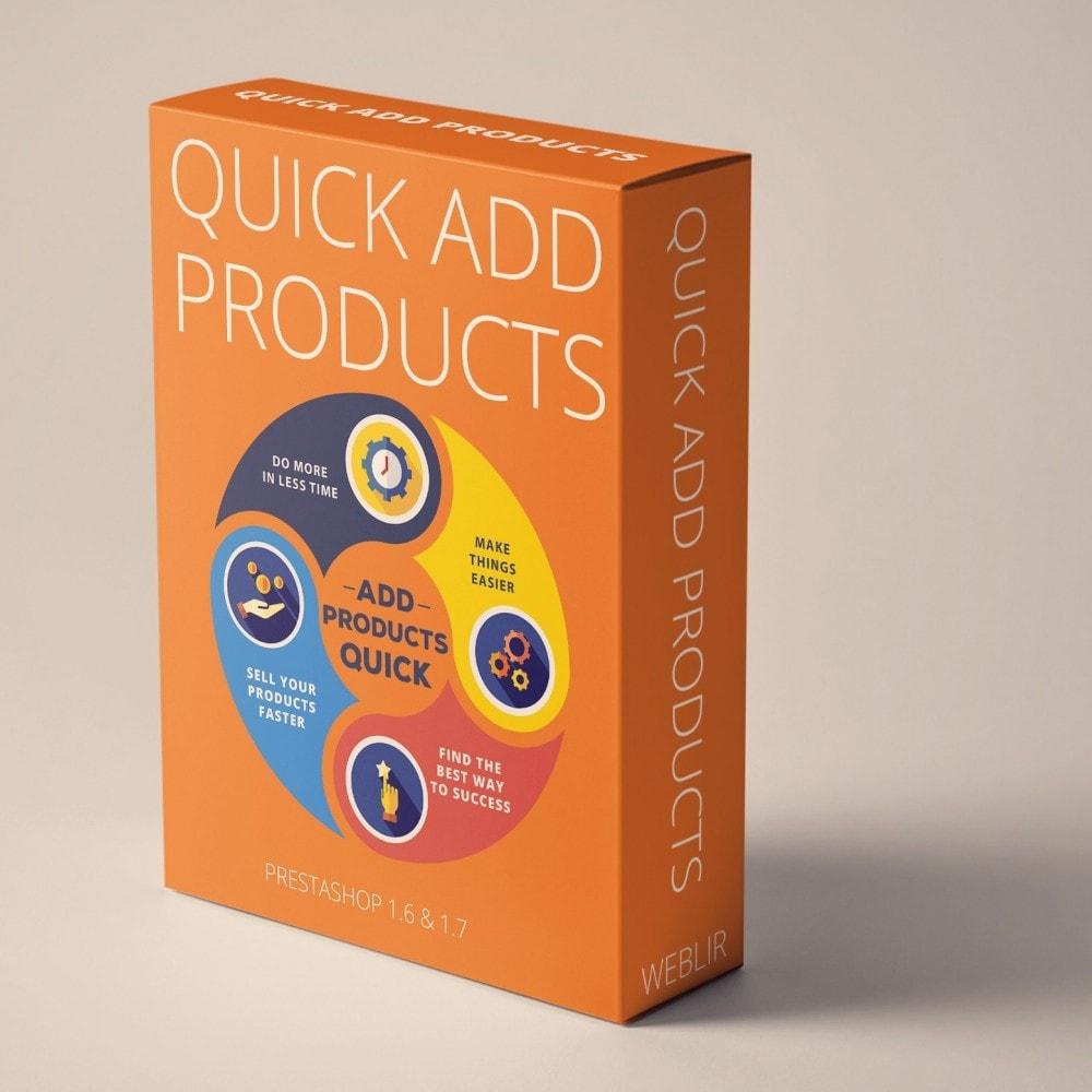 module - Szybkie & Masowe edytowanie - Szybkie dodawanie produktów - Twórz produkty szybciej - 1