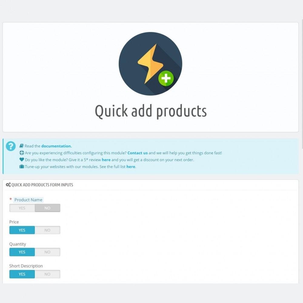 module - Edição rápida & em massa - Produtos rápidos - Crie produtos de forma mais rápida - 4