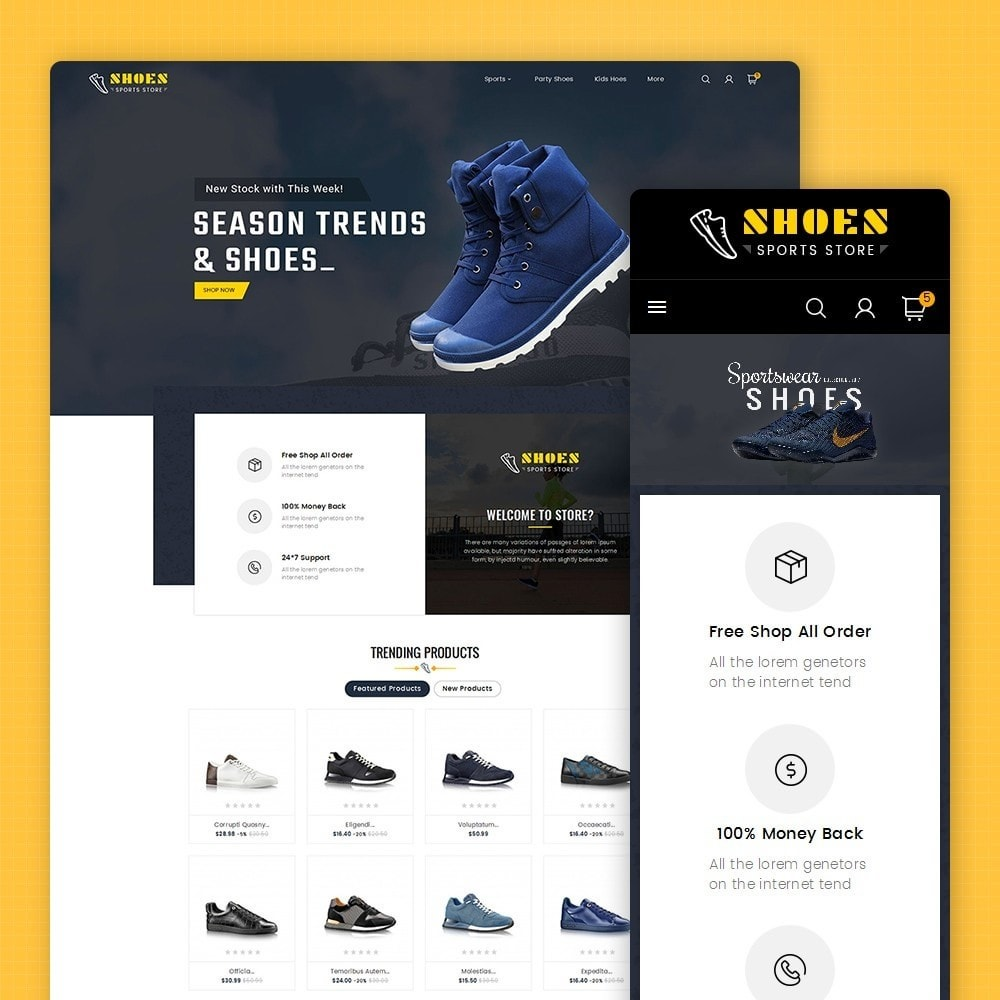 theme - Sports, Activities & Travel - Shoes Sport Store - 1