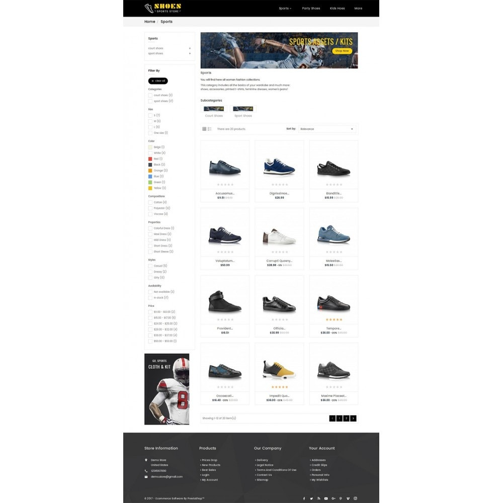 theme - Sports, Activities & Travel - Shoes Sport Store - 3
