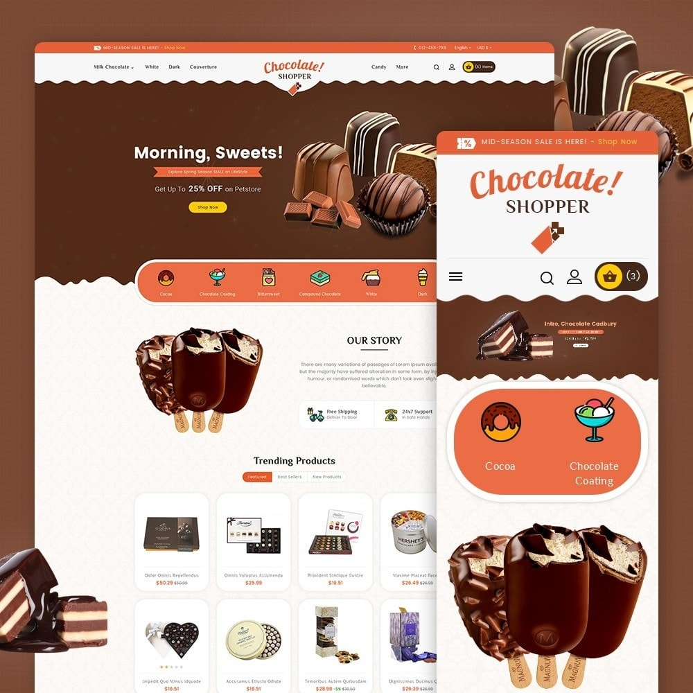 theme - Regalos, Flores y Celebraciones - Chocolate Cream - 1
