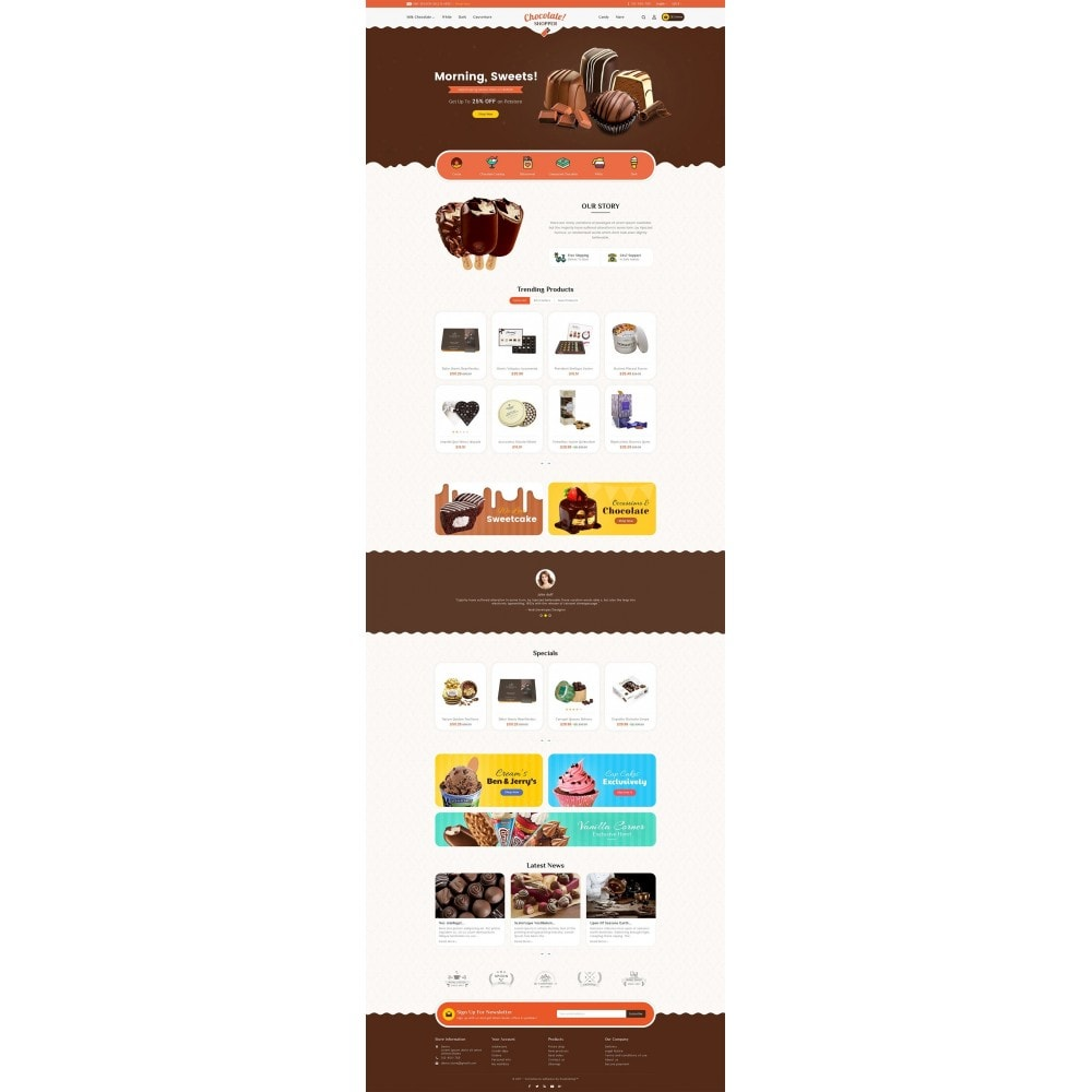theme - Gifts, Flowers & Celebrations - Chocolate Cream - 2