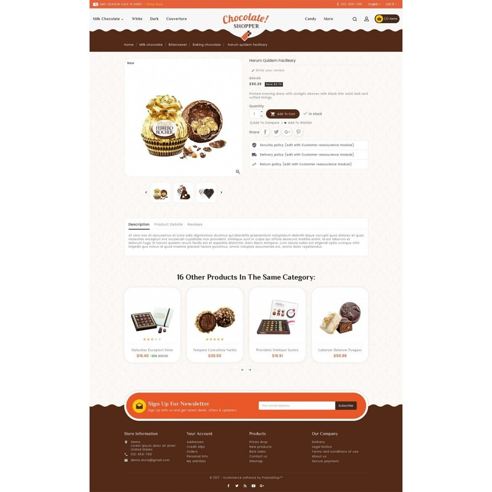 theme - Подарки, Цветы и праздничные товары - Chocolate Cream - 5