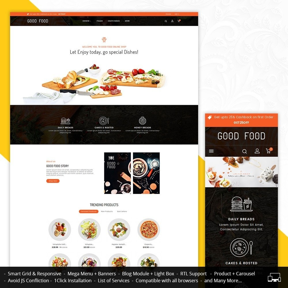 theme - Alimentos & Restaurantes - Good Gusto Food - 1