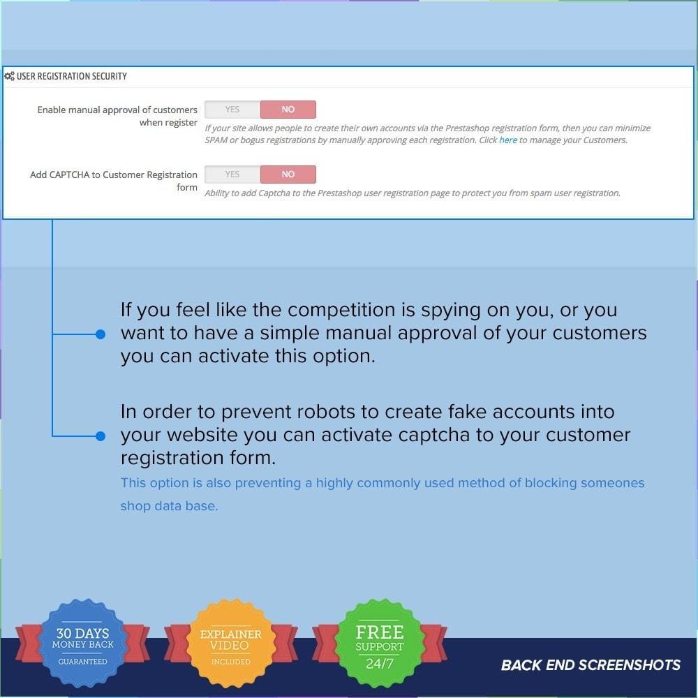 module - Sécurité & Accès - Protect Shop PRO / Anti Hack - 9