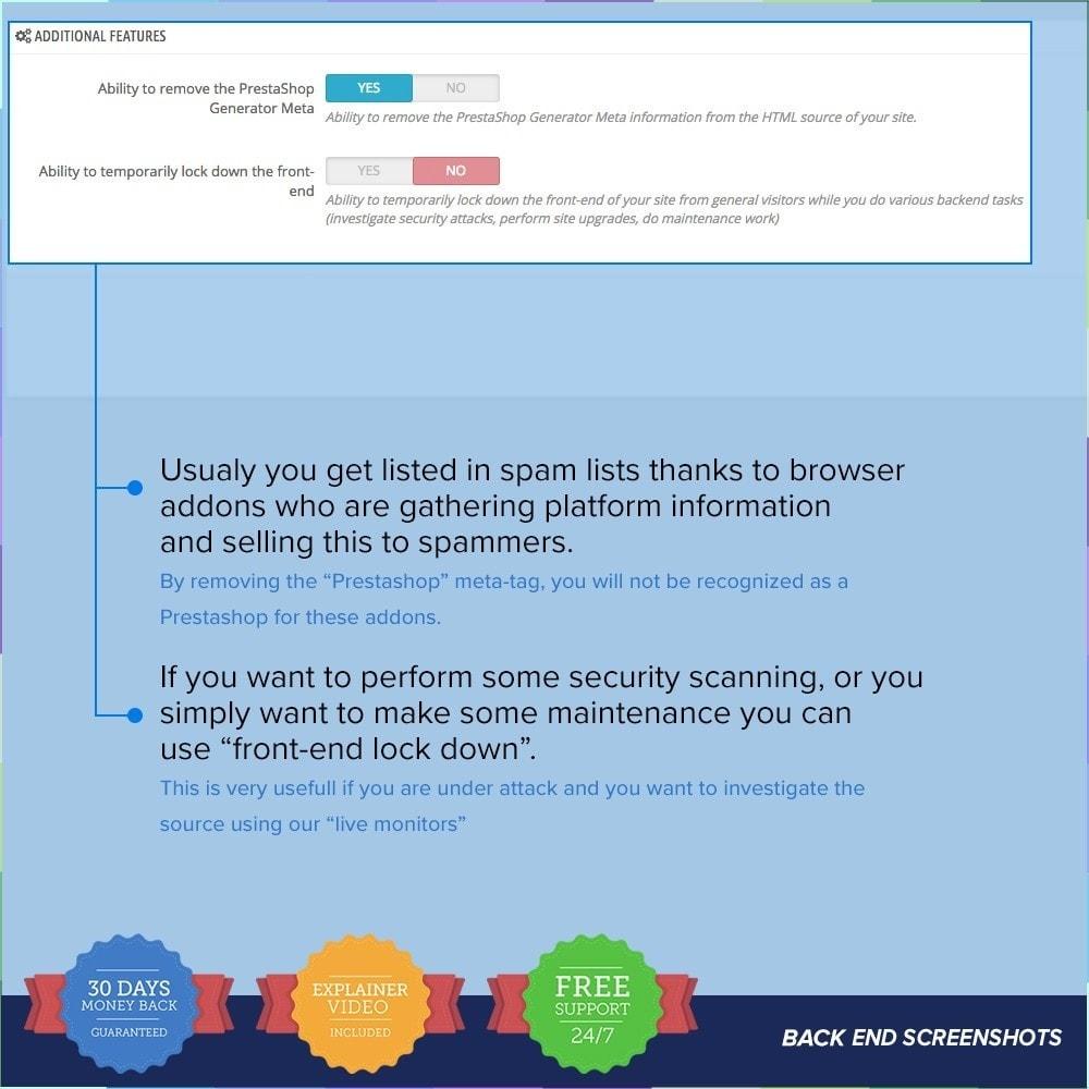 module - Sécurité & Accès - Protect Shop PRO / Anti Hack - 25