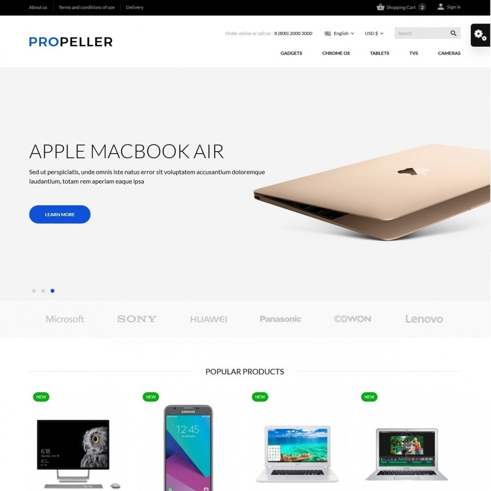 theme - Electronics & Computers - Propeller - High-tech Shop - 2