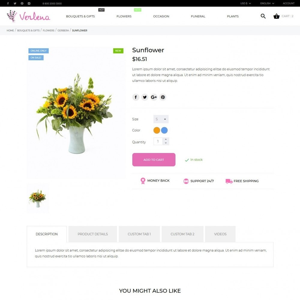 theme - Gifts, Flowers & Celebrations - Verlena - 7