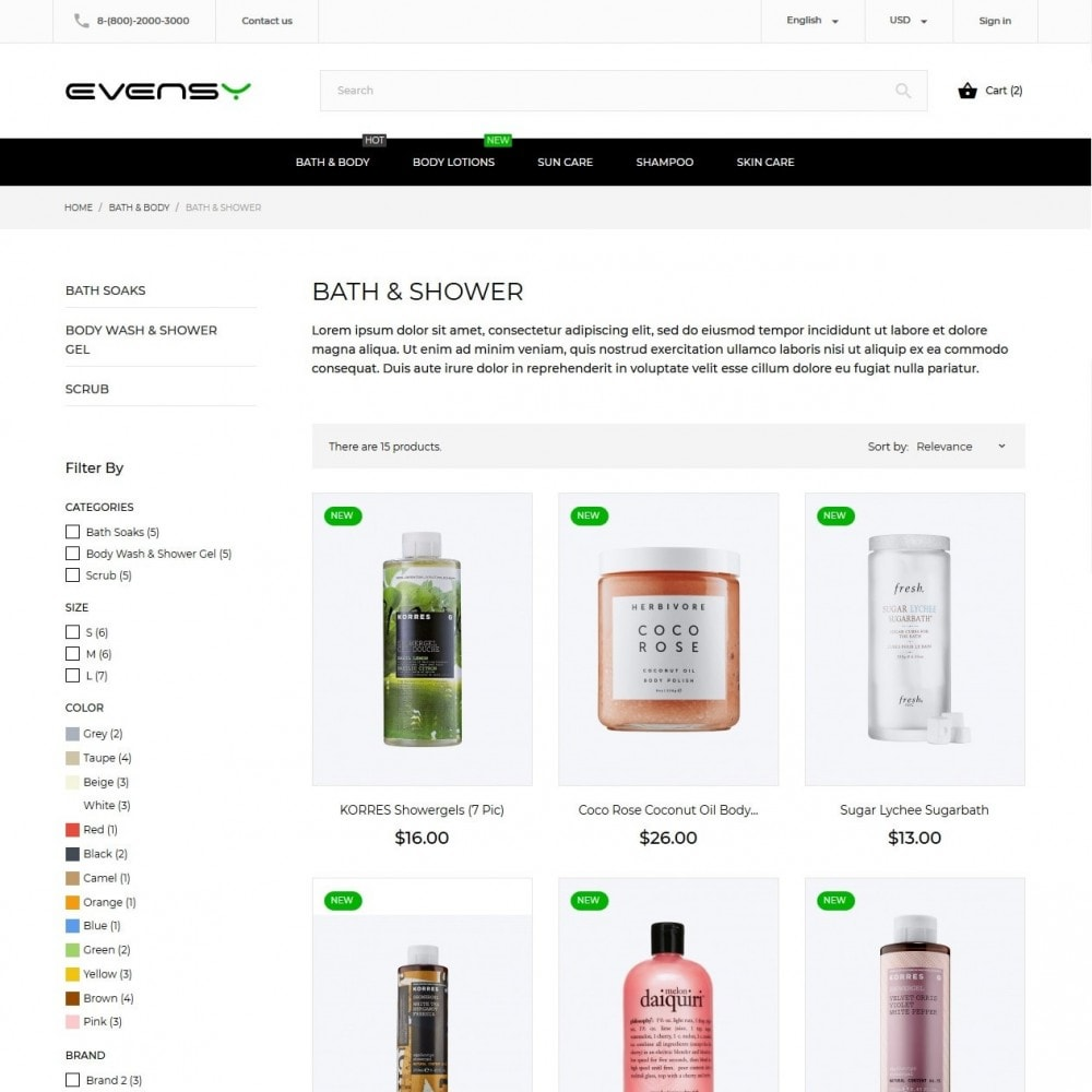 theme - Health & Beauty - Evensy Cosmetics - 6