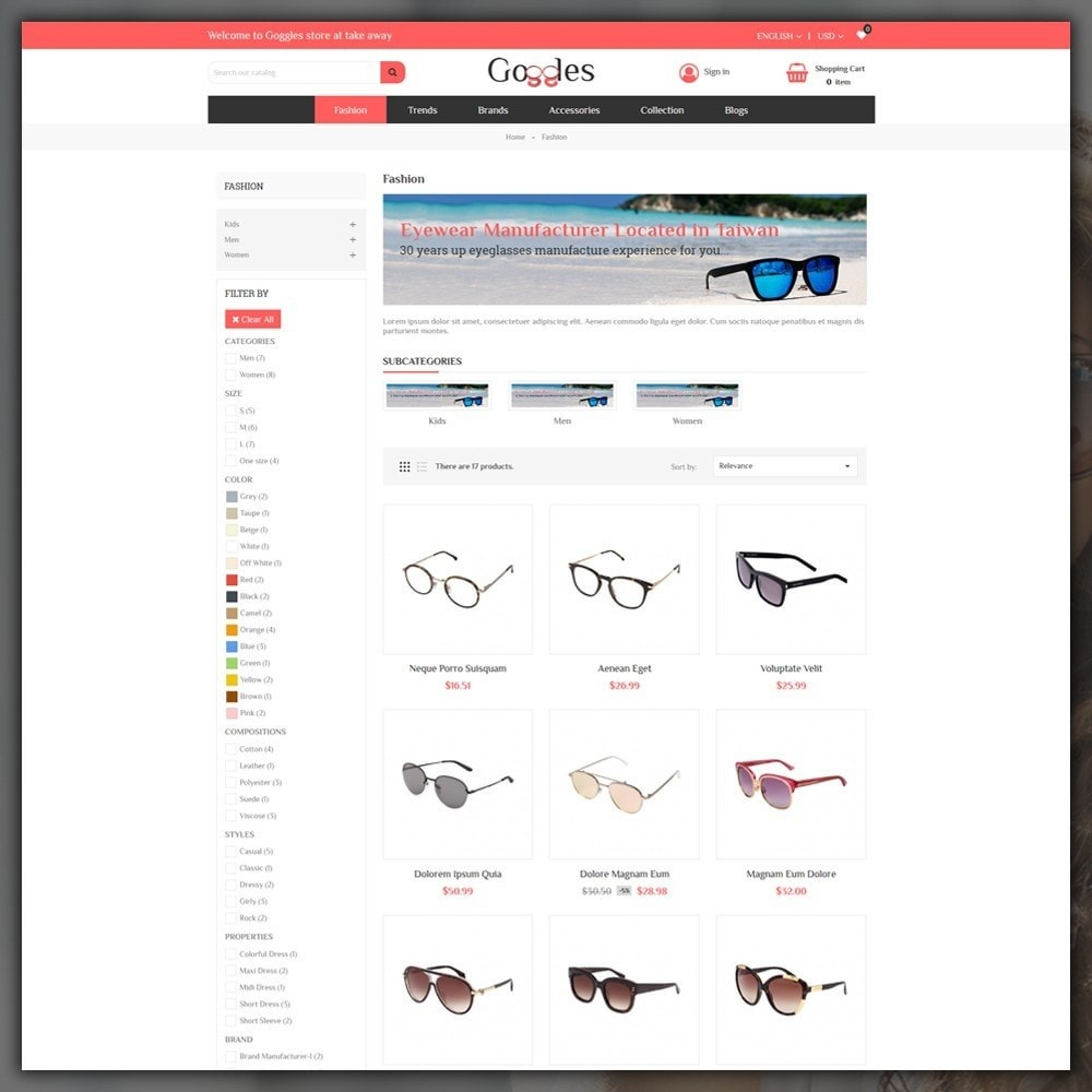 theme - Moda & Calzature - Goggles Shop - 3