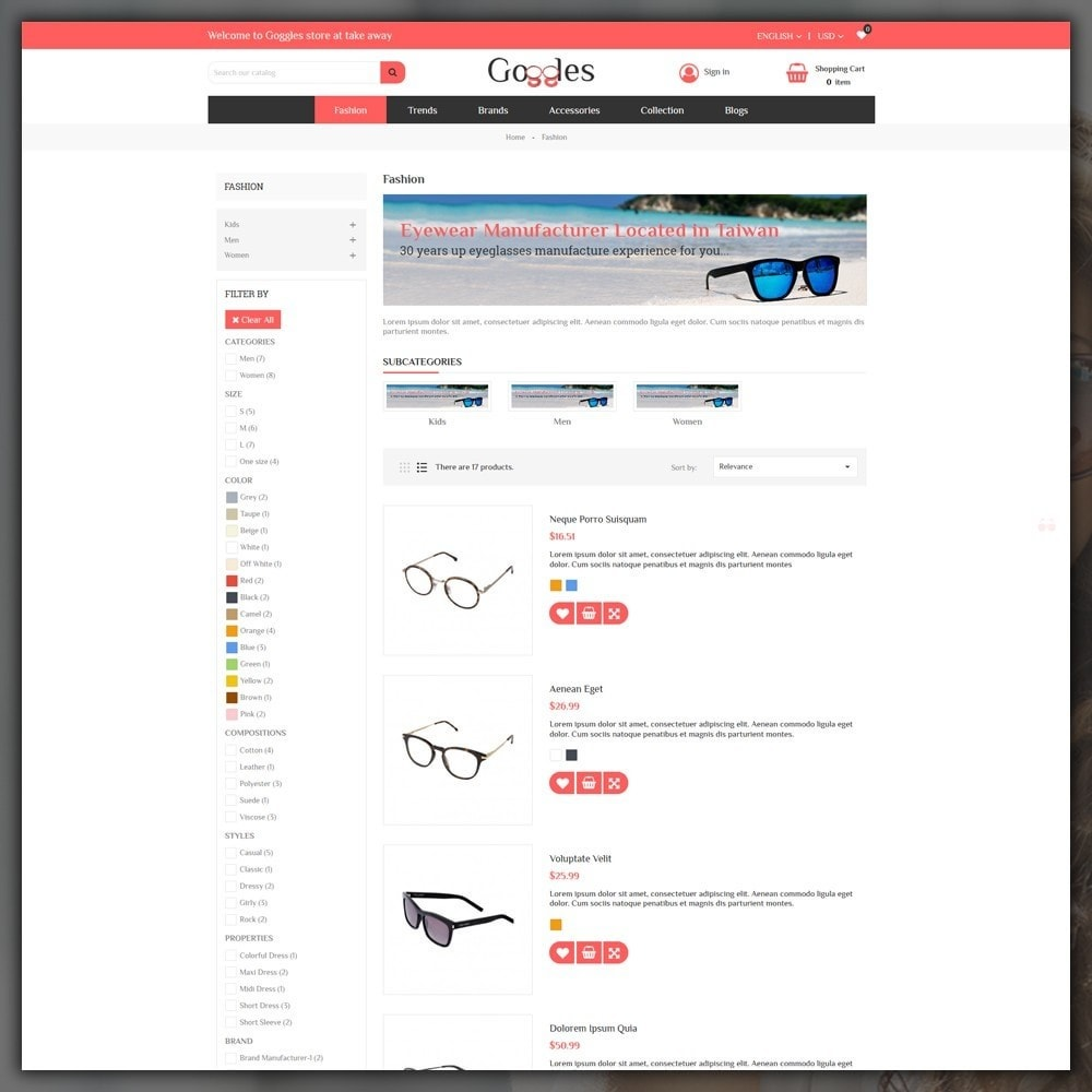 theme - Moda & Calzature - Goggles Shop - 4