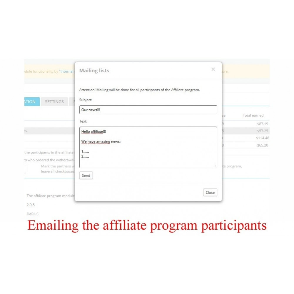 module - SEA SEM (paid advertising) & Affiliation Platforms - Extended Affiliate Program RefPRO - 11