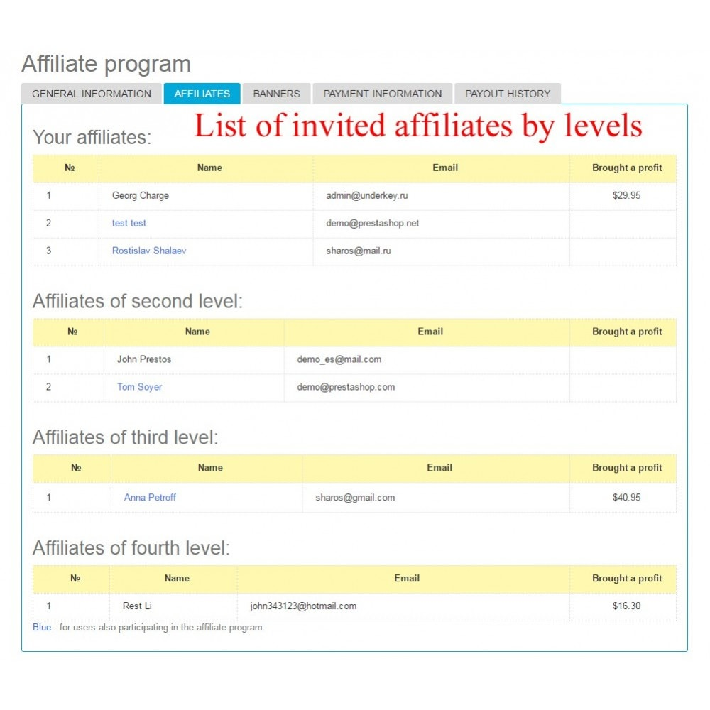 module - Indicizzazione a pagamento (SEA SEM) & Affiliazione - Extended Affiliate Program RefPRO - 15