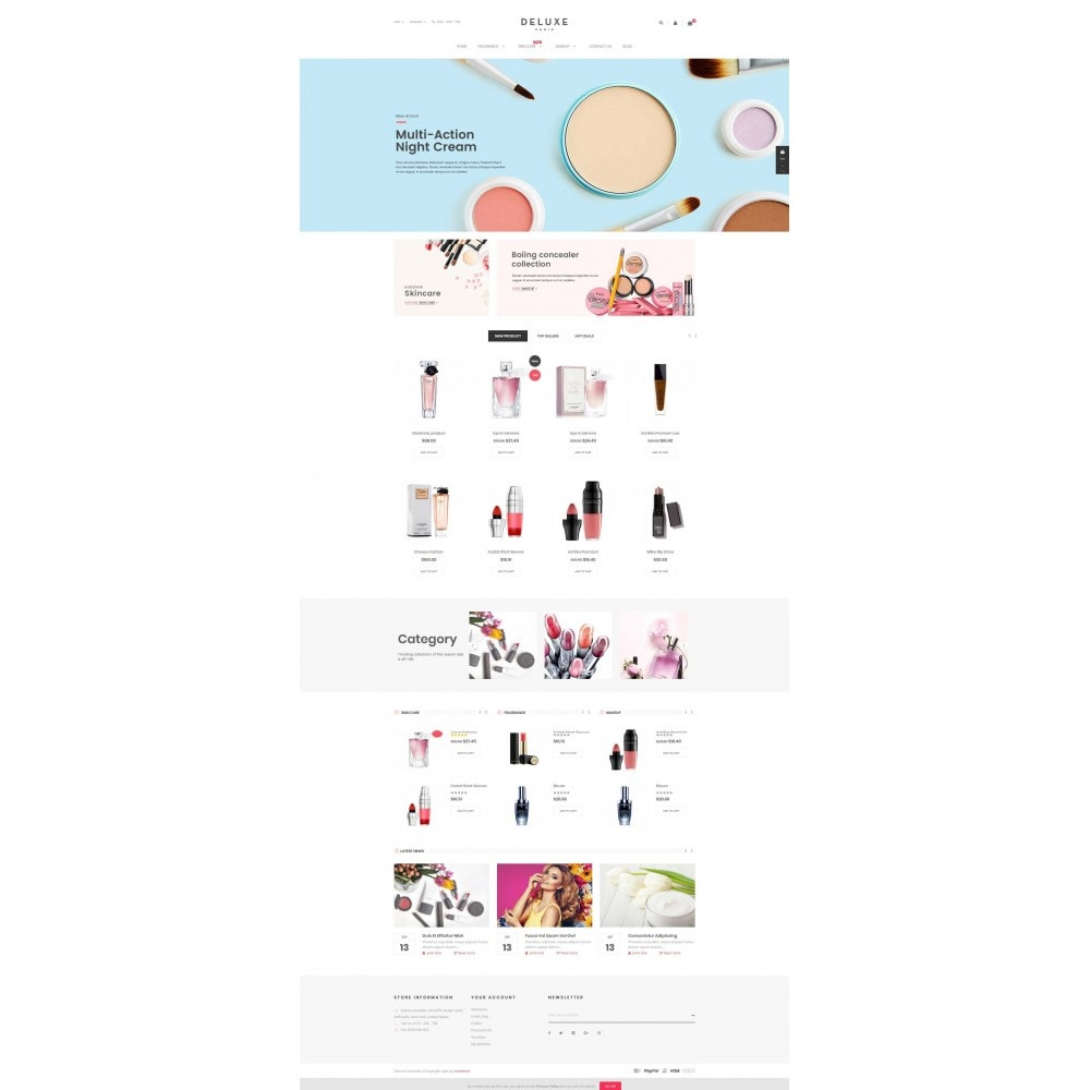 theme - Saúde & Beleza - Deluxe Cosmetics - 2
